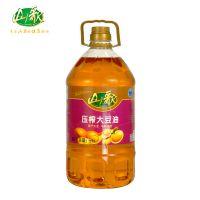 山歌非转基因三级大豆油5L 国产大豆原料 健康安全食用油产品