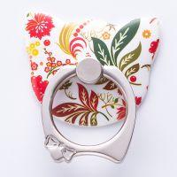 新款猫头卡通N系列多功能手机指环支架360度旋转粘贴式指环扣
