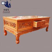 格桑花藏式家具定制 古典彩绘茶几 客厅实木桌子 中式纯实木茶几