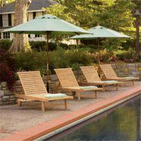 楚工供应实木沙滩椅 室外休闲沙滩椅 庭院木质躺椅