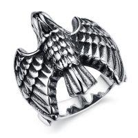 外贸饰品混批 ebay速卖通敦煌供货  霸气大鹰 男士钛钢戒指 GJ410