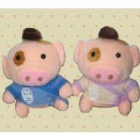 郁闷猪 毛绒玩具 可爱love眯眼兔抱枕 水果兔粉色