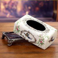 欧式复古 餐桌摆饰纸巾盒 树脂创意礼品摆件  创意工艺礼品 批发