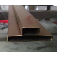 拉丝玫瑰金方管,304平椭不锈钢圆管,志御304盘管