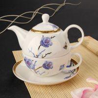 和瓷 雪映暗香茶具 茗香 青花茶具套装 精品茶具