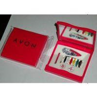 供应优质环保塑料镜子针线盒,镜子针线包,针线套装,旅行套装