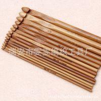 编织工具毛衣针 竹钩针 炭化圆钩针 一套12个号 套装