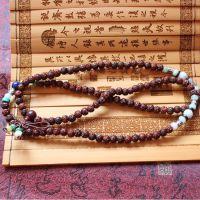 (善慈珠宝)天然印度小叶紫檀手串佛珠,红木手串,雕莲花专业搭配