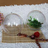 百年老盒 10CM透明塑料球 PS圣诞球 空心透明圆球 现货批发