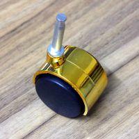 40mm电镀金色脚轮 万向轮 家具脚轮 尼龙塑胶脚轮