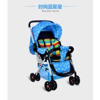 婴儿车可坐躺婴儿推车避震手推车双向四轮宝宝新生儿童车