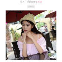 型号:8883 龙波正品粉色陶瓷手表女学生时尚韩版女表防水石英表批发