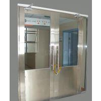 广西不锈钢乙级防火玻璃门厂生产直销单开黑钛不锈钢玻璃防火门有检测报告