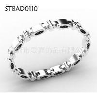 能量磁石保健手链 纯银链子加工不锈钢水晶饰品生产设计定做工厂