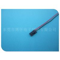 厂家供应杜邦2.54-3P黑色电子线 风扇连接端子线