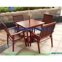 供应现货户外家具实木桌椅 可图来样订做休闲桌椅