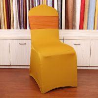 欧式古典宴会餐桌垫椅子套 金色酒店椅套 高档弹力烫金椅批发
