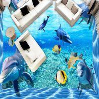 主题酒店房工程专用墙纸 主题酒店墙纸个性定制 海洋世界主题墙纸