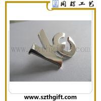 供应金属无色徽章 锌合金压铸镂空镀银色徽章 同辉工厂生产