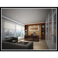 广州办公隔断 80型双玻百叶高间隔 办公室装修装饰