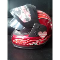 现货热销 冬季摩托车保暖头盔耐特全盔头盔带围脖便宜特价
