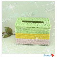 长方形抽纸盒餐纸盒创意餐纸巾筒定做长形餐纸盒批发编织纸巾抽
