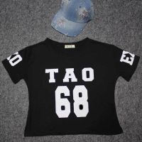 2015 夏装明星EXO周边同款 黄子韬歌迷服68#短款短袖T恤女夏 T