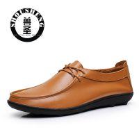 爆卖款5000男士驾车鞋休闲时尚豆豆鞋韩版潮流皮鞋真皮品牌微信
