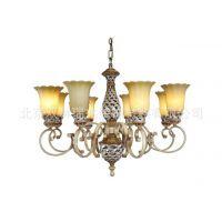 定制美式复古灯别墅奢华美式玻璃罩灯现代简约欧式吊灯