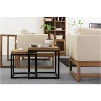 达之盛时尚简约客厅角几 现代沙发边几 玻璃小茶桌 可伸缩正方形小方几