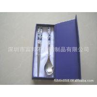 供应青花瓷餐具套装 青花瓷礼品套装 青花瓷餐具 青花勺筷套装