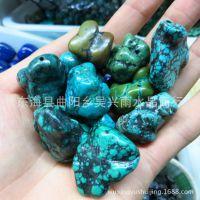 天然湖北竹山绿松石原石无加色的 原石2.8元每克 假一赔十
