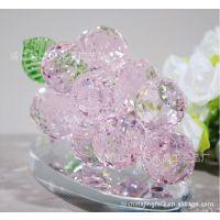 【特价】供应唯美水晶葡萄之粉色/颜色多样/款式新颖/家居摆设