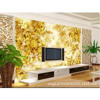 2015定制 3D立体牡丹彩雕山水国画 中式客厅式御品兰香风景画