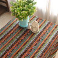 波西米亚风桌布 布艺时尚棉麻餐桌布台布茶几垫旗民族风