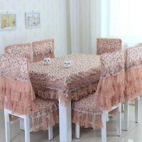 厂家直销 新款田园风格方形设计桌布  高档工艺布艺 低价批发