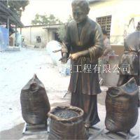 玻璃钢古代卖米商人雕塑 旅游景点人物雕像 玻璃钢历史代表性生活景象雕塑生产