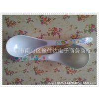 一元二元日用百货货源密胺餐具密胺大汤勺 粥勺 长柄塑料勺子