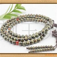 【一条起批】手工加工正品绿檀6mmA级佛珠念珠项链108粒