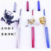 新款钢笔竿 迷你型路亚竿 袖珍竿 竿轮套装 冰钓竿