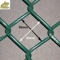 墨绿色菱形网 网球场护栏 包胶勾花网