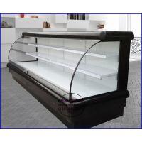 生鲜超市风幕柜定做厂家 水果蔬菜保鲜展示柜 六安低温酸奶冷藏柜