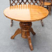 专业定做 海德利中式实木桌椅 中餐厅专用桌子 进口实木圆桌