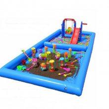 贵州小型决明子充气沙池PVC可移动海洋球池 心悦儿童沙坑批发价格