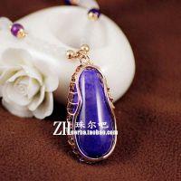 纯天然水晶项链黑玛瑙原石头 女长款韩国复古圆珠子毛衣链饰品