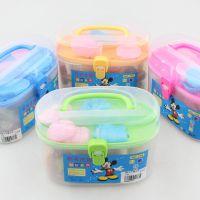 益智类科教玩具 小孩子过家家玩具 桶装彩泥批发 256大号橡皮泥