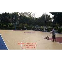 斗门做球场的 丙烯酸地面 硅PU地面 室内室外球场专用的涂料生产厂家