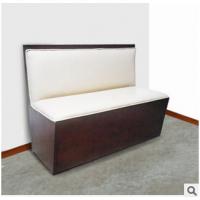 火爆热款 现代皮艺木骨架单面卡座沙发 咖啡厅/西餐厅卡座沙发