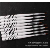 美甲工具 光疗笔 勾花笔水晶笔平口光疗排笔彩绘笔雕花笔5支套装