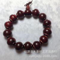 老挝红酸枝灯笼珠手串 木质佛珠手链 类似小叶紫檀 厂家批发